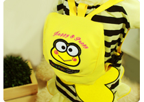 Dog Backpack for Dog Clothes- Yellow Froggy Backpack