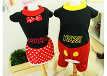 Dog Apparel- Mickey Suit & Minnie Onepiece