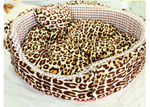 Dog Cat Bed- Plush Round Bed Zebra